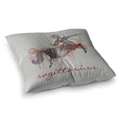 Sagittarius by Belinda Gillies Floor Pillow Size: 23 x 23