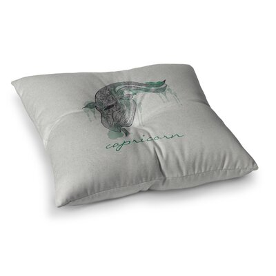 Capricorn by Belinda Gillies Floor Pillow Size: 26 x 26