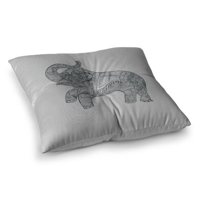 Elephant by Belinda Gillies Floor Pillow Size: 26 x 26