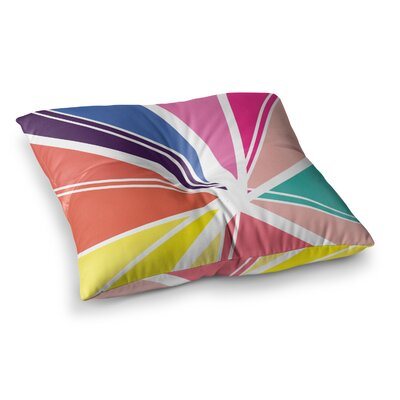 Boldly Bright by Belinda Gillies Floor Pillow Size: 23 x 23