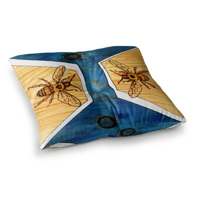 Bees by Brittany Guarino Floor Pillow Size: 26 x 26