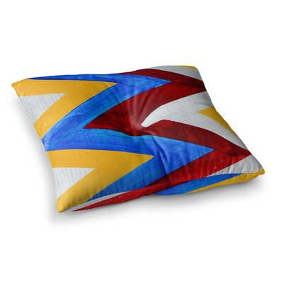 Zig Zag by Brittany Guarino Floor Pillow Size: 26 x 26