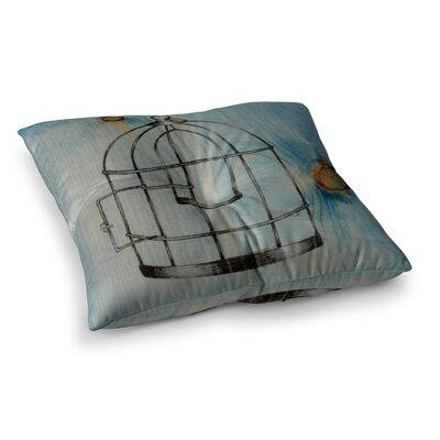 Bird Cage by Brittany Guarino Floor Pillow Size: 23 x 23