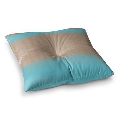 Art Wood by Brittany Guarino Floor Pillow Size: 23 x 23, Color: Aqua/Blue