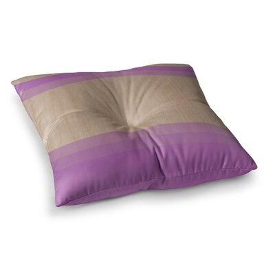 Art Wood by Brittany Guarino Floor Pillow Size: 26 x 26, Color: Lavender/Purple