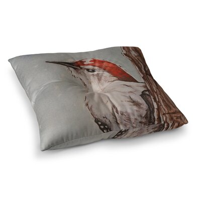 Downy Woodpecker by Brittany Guarino Floor Pillow Size: 23 x 23