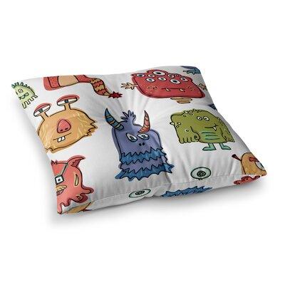 Little Monsters by Brienne Jepkema Floor Pillow Size: 23 x 23
