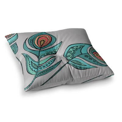 Feathers by Brienne Jepkema Floor Pillow Size: 26 x 26