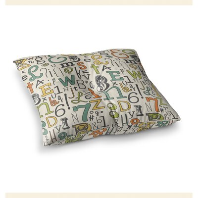 ABC Letters by Busy Bree Floor Pillow Size: 23
