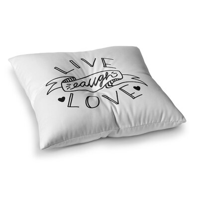 LLL by Busy Bree Floor Pillow Size: 26 x 26