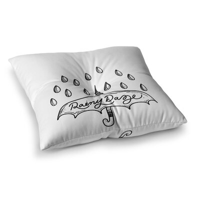 Rainy Daze by Busy Bree Floor Pillow Size: 23 x 23