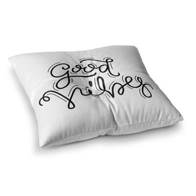 Good Vibes by Busy Bree Floor Pillow Size: 23