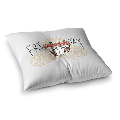 Fri-Yay People by Busy Bree Floor Pillow Size: 26 x 26