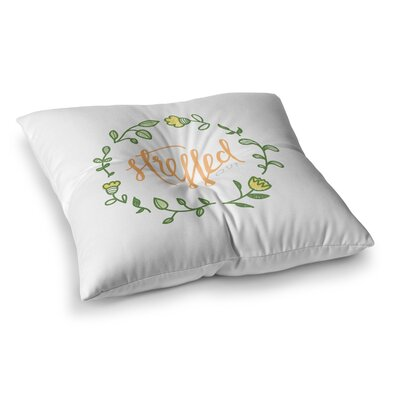 Stressed Out Floral by Busy Bree Floor Pillow Size: 23 x 23