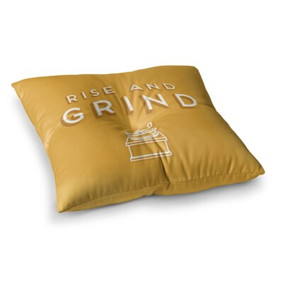 Rise and Grind Illustration by Busy Bree Floor Pillow Size: 26 x 26