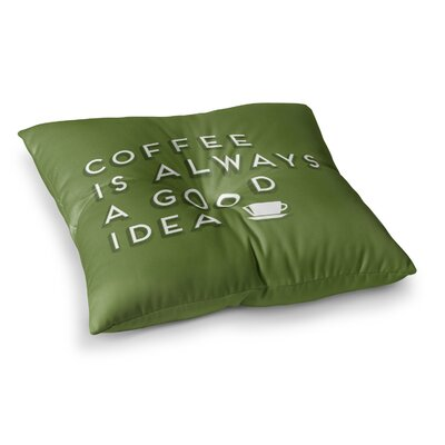 Good Idea Tyopgraphy by Busy Bree Floor Pillow Size: 26 x 26