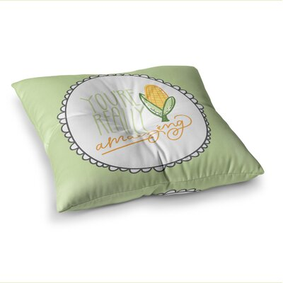 Amaizing by Busy Bree Floor Pillow Size: 26 x 26