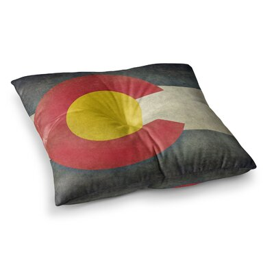 State Flag of Colorado by Bruce Stanfield Floor Pillow Size: 26 x 26