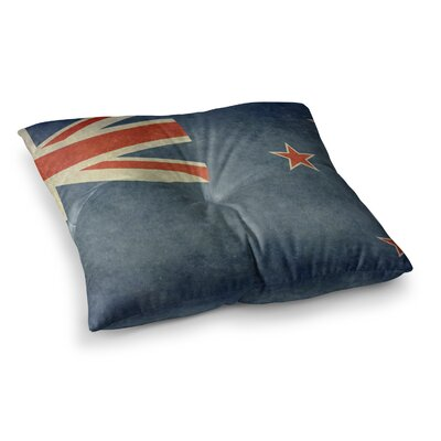 Flag of New Zealand by Bruce Stanfield Floor Pillow Size: 26 x 26