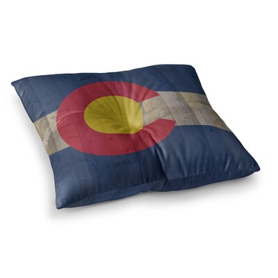 Flag of Colorado by Bruce Stanfield Floor Pillow Size: 23 x 23