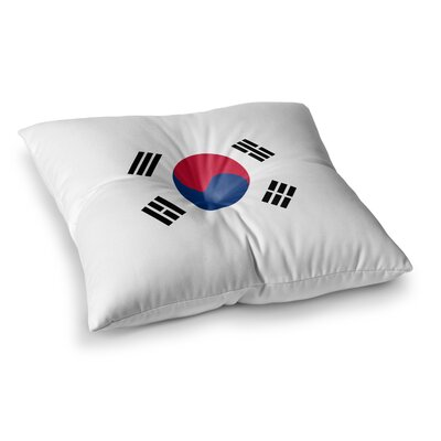Flag of Korea Digital by Bruce Stanfield Floor Pillow Size: 26 x 26