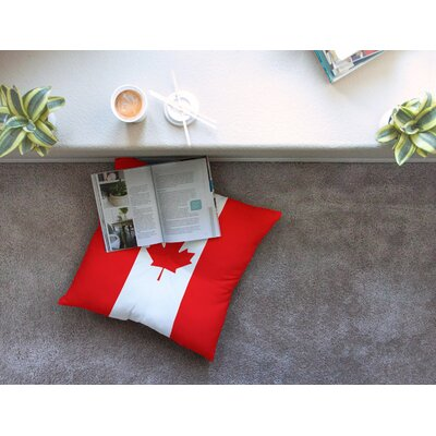 Flag of Canada by Bruce Stanfield Floor Pillow Size: 26 x 26