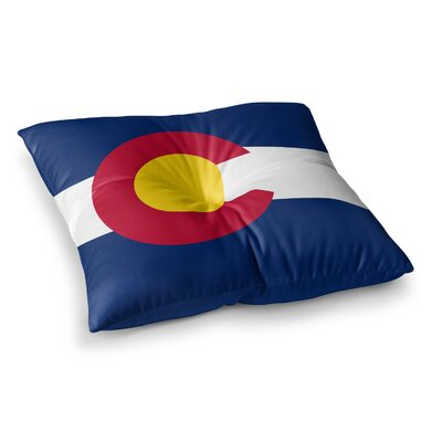 Flag of Colorado II by Bruce Stanfield Floor Pillow Size: 23 x 23