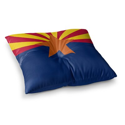 Flag of Arizona by Bruce Stanfield Floor Pillow Size: 26 x 26