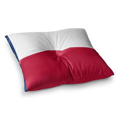 Flag of Texas by Bruce Stanfield Floor Pillow Size: 26 x 26