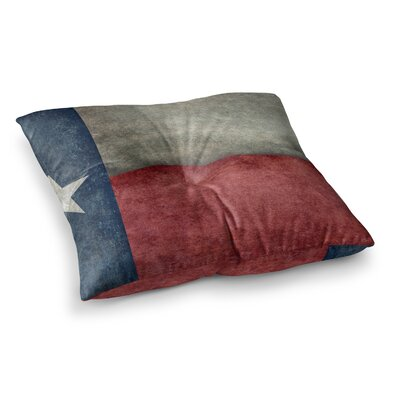 Texas State Flag Vintage Digital by Bruce Stanfield Floor Pillow Size: 23 x 23
