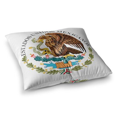 Mexico Emblem by Bruce Stanfield Floor Pillow Size: 26 x 26