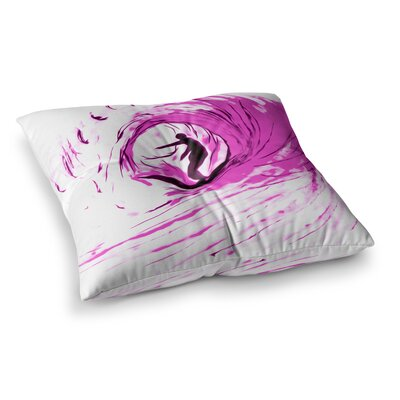 Solo Surfer by Bruce Stanfield Floor Pillow Size: 26 x 26
