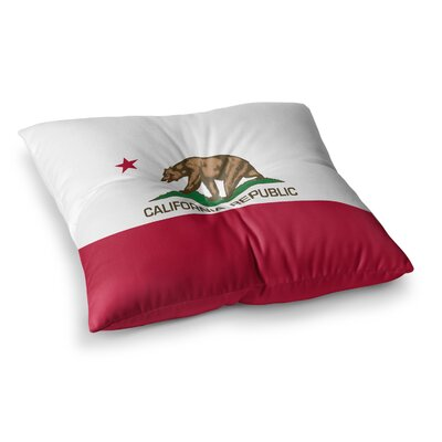 California State Flag by Bruce Stanfield Floor Pillow Size: 23 x 23