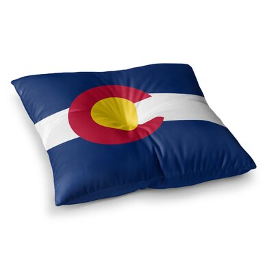 Colorado State Flag by Bruce Stanfield Floor Pillow Size: 23 x 23