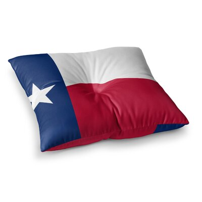 Texas Flag by Bruce Stanfield Floor Pillow Size: 26 x 26
