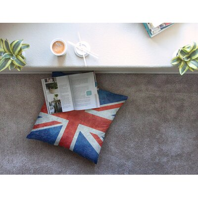 UK Union Jack Flag by Bruce Stanfield Floor Pillow Size: 23 x 23