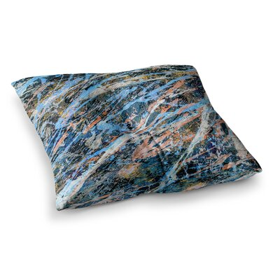 Cobalt One Abstract by Bruce Stanfield Floor Pillow Size: 23 x 23