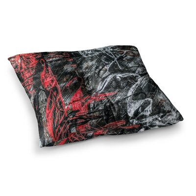 Areus Abstract by Bruce Stanfield Floor Pillow Size: 26 x 26