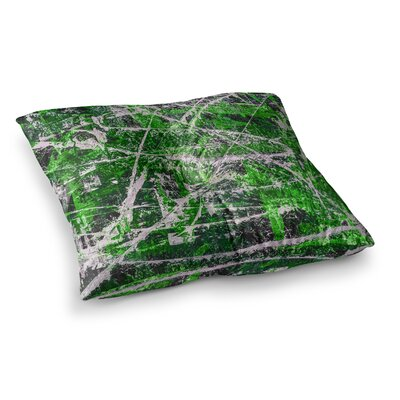 Jade Painting by Bruce Stanfield Floor Pillow Size: 23 x 23