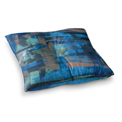 Hyper Painting by Bruce Stanfield Floor Pillow Size: 23 x 23