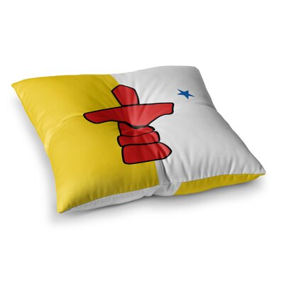 Flag of Nunavut Tribal by Bruce Stanfield Floor Pillow Size: 23 x 23