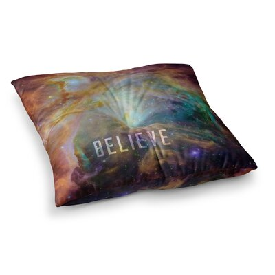 Orion Nebula Believe by Bruce Stanfield Floor Pillow Size: 23 x 23