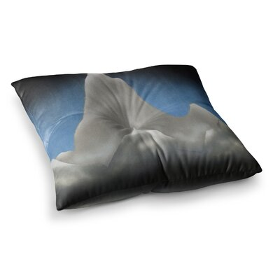 Snowy Mountains Painting by Bruce Stanfield Floor Pillow Size: 26 x 26