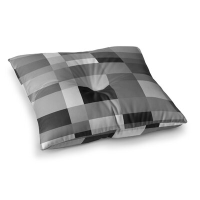Monotones Cubed by Bruce Stanfield Floor Pillow Size: 26 x 26