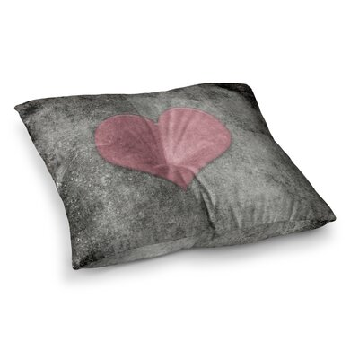 Vintage Valentines Digital by Bruce Stanfield Floor Pillow Size: 23 x 23, Color: Pink/Black