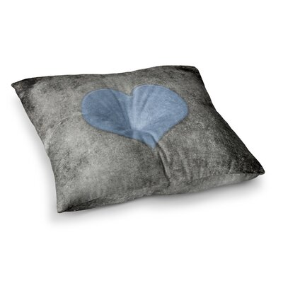 Vintage Valentines Digital by Bruce Stanfield Floor Pillow Size: 26 x 26, Color: Blue/Black