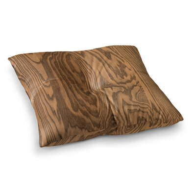 Wood Grain 5 by Bruce Stanfield Floor Pillow Size: 23