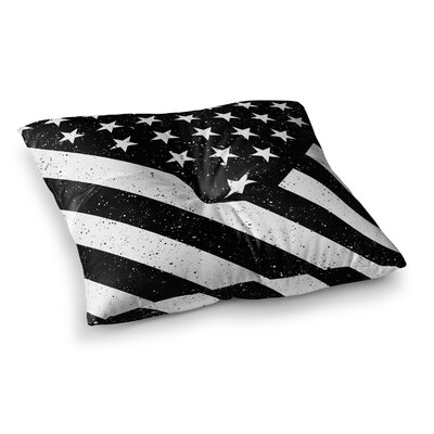 US Flag by Bruce Stanfield Floor Pillow Size: 23 x 23