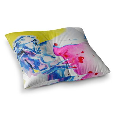 Painful Love by Cecibd Floor Pillow Size: 23 x 23