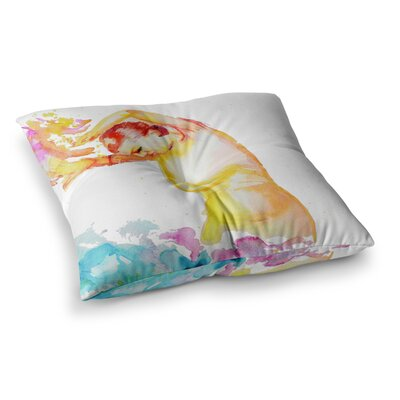 Espana I by Cecibd Floor Pillow Size: 23 x 23